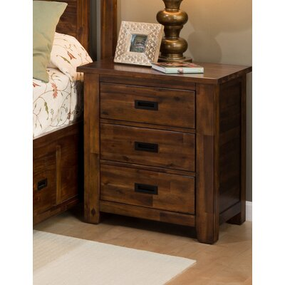 Oilton 3 Drawer Nightstand
