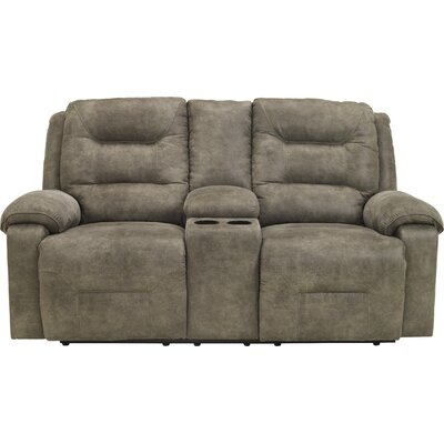 Tressider Reclining Loveseat with Console Type: Power