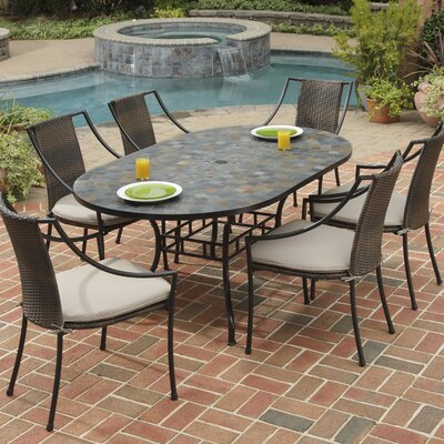 Sequoyah 7 Piece Dining Set with Cushions