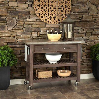 Eolus Kitchen Cart with Concrete Top