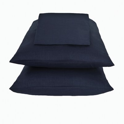 Kamakou Waterbed Sheet Set Color: Navy Blue, Size: Super Twin