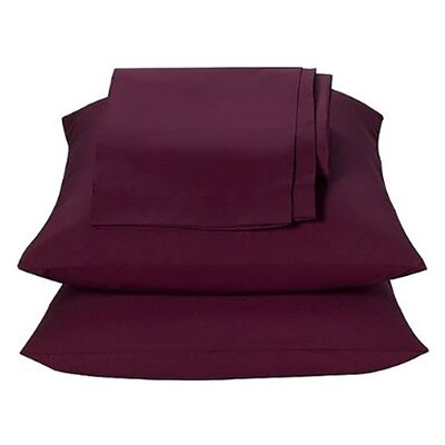 Kamakou Waterbed Sheet Set Color: Burgundy, Size: Queen