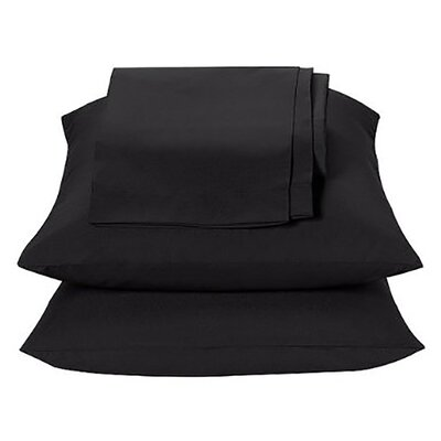 Kamakou Waterbed Sheet Set Color: Black, Size: Queen