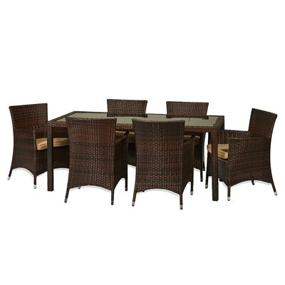 Kohala 7 Piece Dining set with Cushions