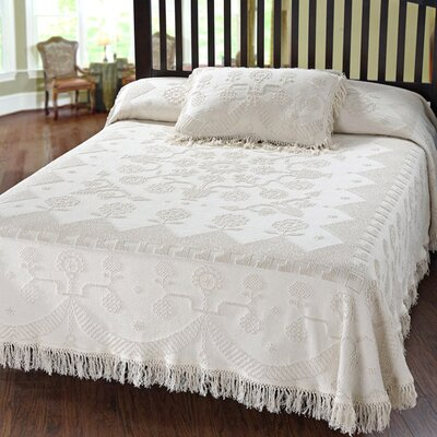 Kinnerly Bedspread Color: White, Size: King