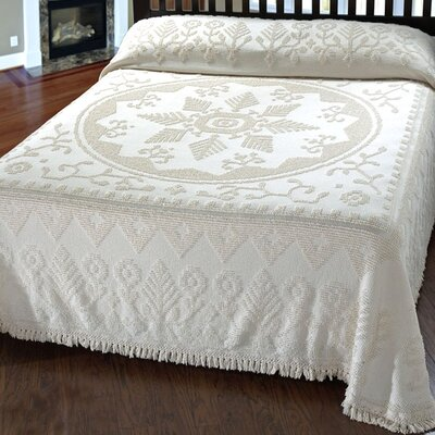 Amukta Bedspread Size: King, Color: White