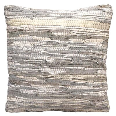 Walters Woven Throw Pillow Color: White