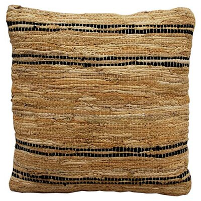 Walters Woven Throw Pillow Color: Tan / Black