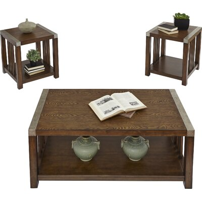 Creede 3 Piece Coffee Table Set