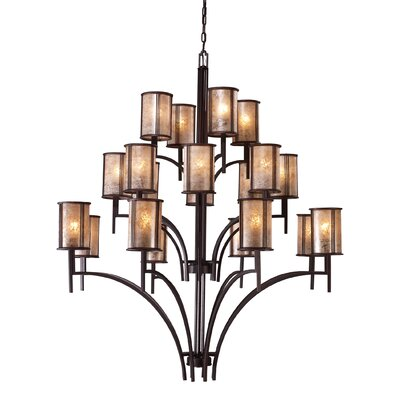 Seeley 20-Light Shaded Chandelier