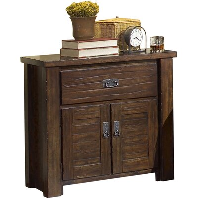 Bison Ridge 1 Drawer Nightstand Finish: Mesquite Coal