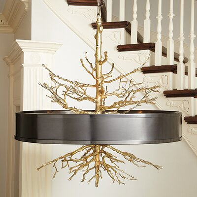 Wyatt 4-Light Drum Pendant Finish: Brass / Bronze