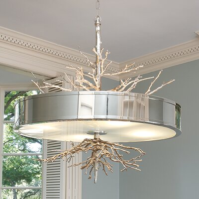 Wyatt 4-Light Drum Pendant Finish: Nickel