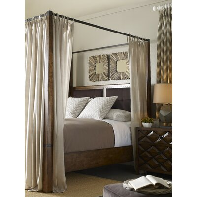 Segula Upholstered Canopy Bed Size: Queen