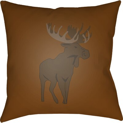 Dove Valley Indoor/Outdoor Throw Pillow Size: 18 H x 18 W x 4 D, Color: Brown