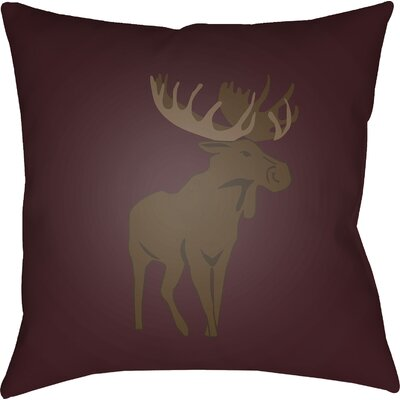 Dove Valley Indoor/Outdoor Throw Pillow Size: 18 H x 18 W x 4 D, Color: Red