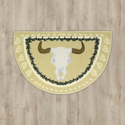 Steens Beige Steer Head Area Rug