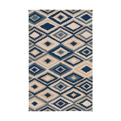 Cassava Beige/Navy Indoor/Outdoor Area Rug Rug Size: 5 x 8