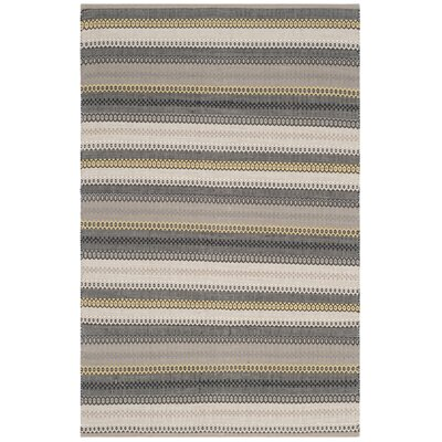 Chiginagak Hand-woven Gray Area Rug Rug Size: Rectangle 4 x 6