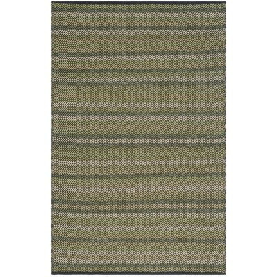 Chiginagak Hand-Woven Green Area Rug Rug Size: Rectangle 4 x 6