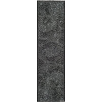 Black/Gray Area Rug Rug Size: Rectangle 2 x 36