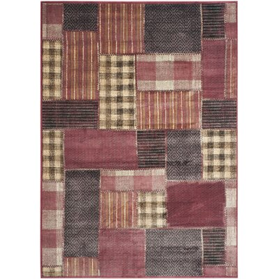 Guyot Red Area Rug Rug Size: 53 x 76
