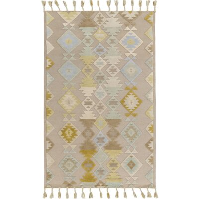 Hand-Woven Gray Area Rug Size: 4 x 6