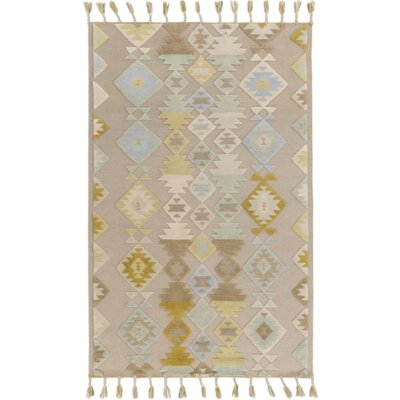 Hand-Woven Gray Area Rug Size: 5 x 76