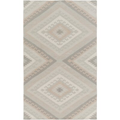 Torreys Hand-Woven Light Gray Area Rug Rug Size: Rectangle 5 x 8