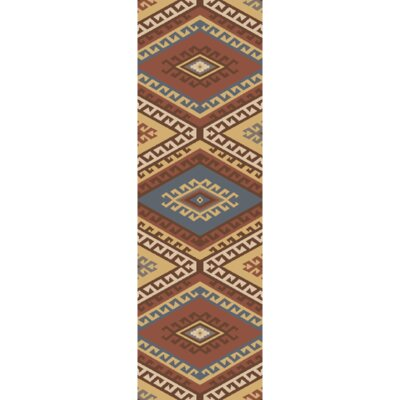 Torreys Hand-Woven Red/Beige Area Rug Rug Size: Runner 26 x 8