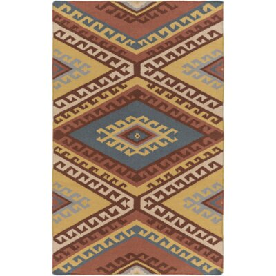 Torreys Hand-Woven Red/Beige Area Rug Rug Size: 4 x 6