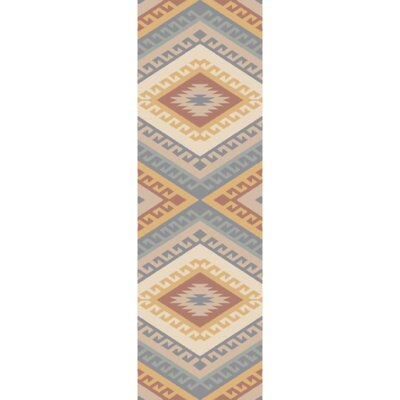 Torreys Hand-Woven Light Gray Mocha/Rust Area Rug Rug Size: Runner 26 x 8