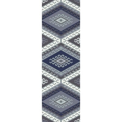 Torreys Hand-Woven Navy Area Rug Rug Size: Runner 2'6