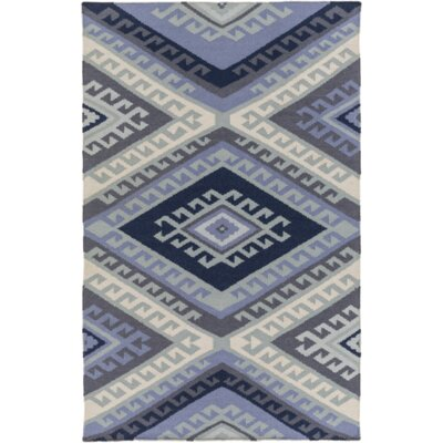 Torreys Hand-Woven Navy Area Rug Rug Size: Rectangle 8 x 10