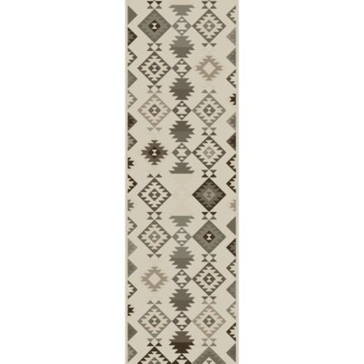 Sassafras Hand-Woven Beige/Gray Area Rug Rug Size: Runner 26 x 8
