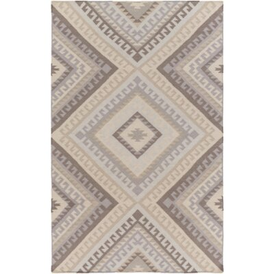 Hand-Woven Gray/Taupe Area Rug Rug Size: 2 x 3