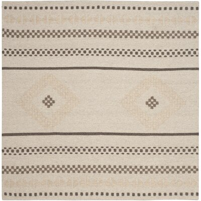 Febbas Hand-Woven Area Rug Rug Size: Square 6