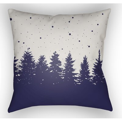 Frissell Trees Outdoor Throw Pillow Size: 20 H x 20 W x 4 D, Color: White / Blue