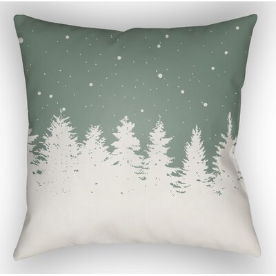 Frissell Trees Outdoor Throw Pillow Size: 20 H x 20 W x 4 D, Color: Green / White