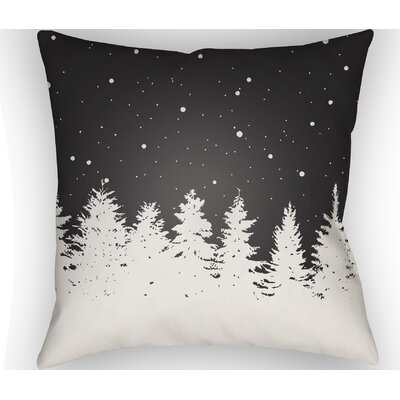 Frissell Trees Outdoor Throw Pillow Size: 18 H x 18 W x 4 D, Color: Black / White