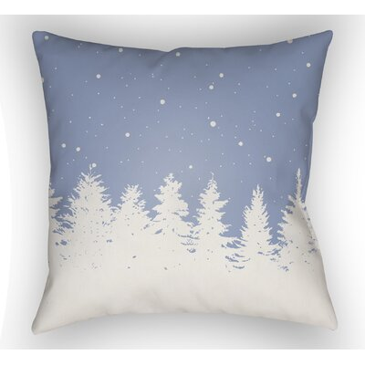 Frissell Trees Outdoor Throw Pillow Size: 18 H x 18 W x 4 D, Color: Blue / White