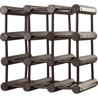 Arvon 12 Bottle Floor Wine Rack Finish: Mahogany