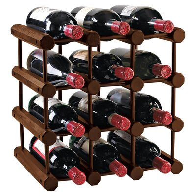 Kitterman 12 Bottle Floor Wine Rack Finish: Walnut