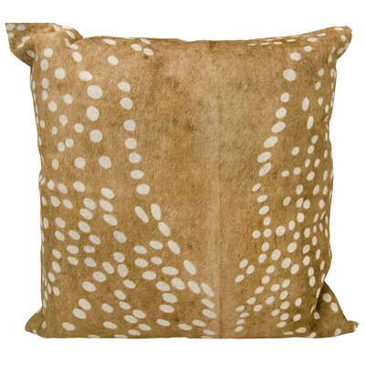 Manglo Natural Leather Hide Throw Pillow