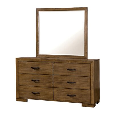 Fort Gibson 6 Drawer Dresser with Mirror
