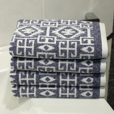 Blanca Hand Towel Color: Ocean Blue