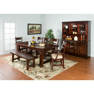Midvale Extension Table in Rustic Mahogany
