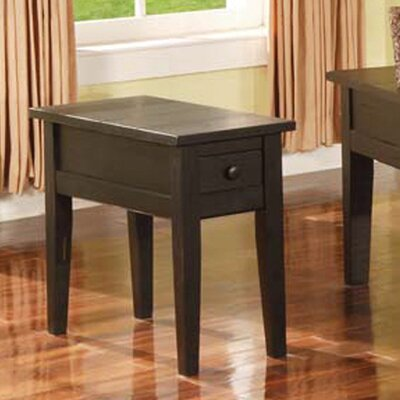 White Mountain End Table Finish: Multi-Step Antique Black