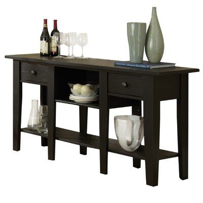 White Mountain Console Table Finish: Black