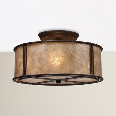 Seeley 3-Light Semi Flush Mount